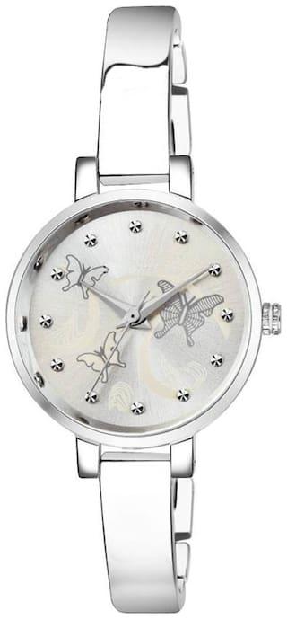 ASGARD IPS Silver Dial Silver Chain Watch For Girls, Women-199-IPS-SB