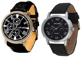 Asgard Men's Analog Watch-Set of 2