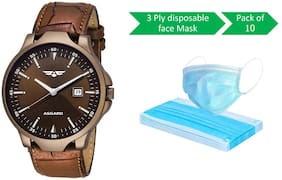 ASGARD Multi-Color Watch With FREE Protection Mask of Pack of 10