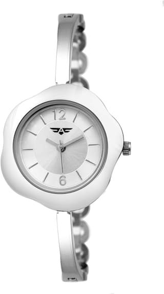 ASGARD Silver Chain and Dial Watch For Girls, Women-190-IPS-FLOWER