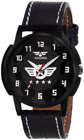 ASGARD Stylish Black Dial Watch For Men  Boys