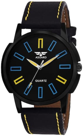 ASGARD Stylish Black Dial Watch For Men  Boys