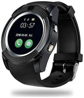Atina Men Black Smart Watch