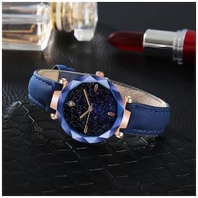 Automatic Mechanical Distinctive Leather Strip Steel Clasp Quartz Watch Plush Band