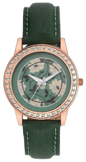 AWorld Floral Analog Watch