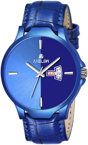 AX-G112-BLBL Blue Dial & Day Date Functioning  watches For Men