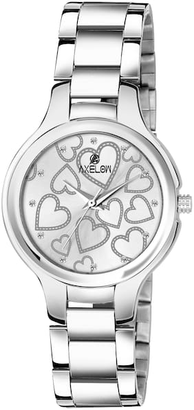 AX-L110-WTCH  Awesome White Color Dial Water Resistance Stainless Silver Steel Watch For Women