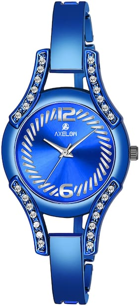 AX-L111-BLBL  Awesome Blue Color Dial Water Resistance Stainless Blue Steel Watch For Women