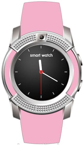 Bastex V8 Pink Smartwatch / Watchphone with bluetooth Compatible With Acer Liquid E600 Mobiles