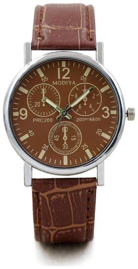 BD Glass Mens Watches Top Luxury Leather Strap Wristwatch Mens Gift Quartz Watch Waterproof