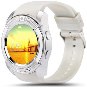 Bingo C6 White Smartwatch With Bluetooth and Sim Enabling Feature