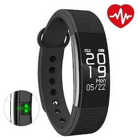 Bingo F1 Black Bluetooth Wireless WaterProof Activity Tracker With Heart Rate Monitoring Fitness Smart Band