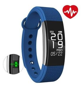 Bingo F1 Blue Bluetooth Wireless WaterProof Activity Tracker With Heart Rate Monitoring Fitness Smart Band
