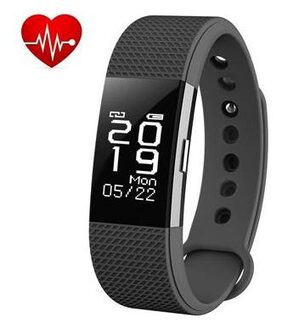 Bingo F2 Black Bluetooth Wireless WaterProof Activity Tracker With Heart Rate Monitoring Fitness Smart Band