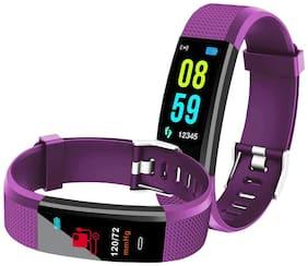Bingo Smart Fitness Band F0S Purple (with Colorful LCD Display;Blood Pressure Monitor;Call & MSG Alert;Heart Rate;Pedometer;Waterproof;Calories Burn etc.