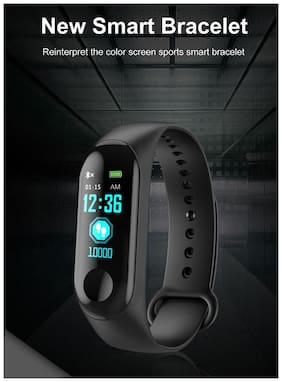 Bingo Smart Fitness Band M3 with Heart Rate Monitor;Waterproof;Colorful Display;USB Charging;Call & MSG Alert;Pedometer;Calories Burn etc.)