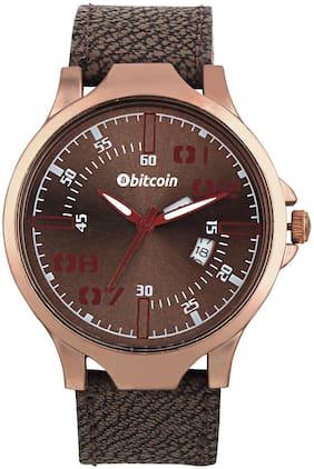 Men Brown Analog Watch
