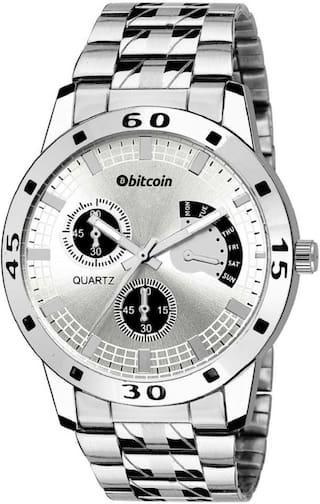 BITCOIN BTC_ES004 Men Silver - Analog Watch