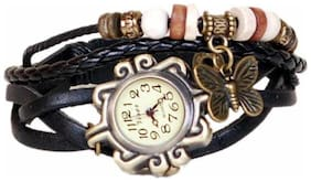 Black designeer leather watch watch(Pack of 5)