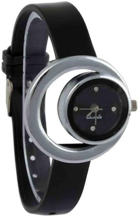 Black Simple Moon same Belt watches for women
