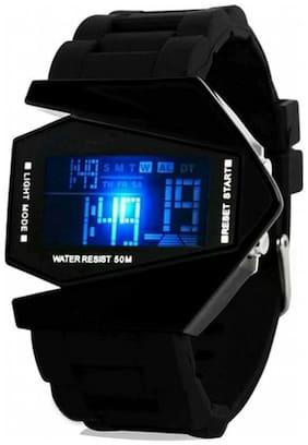 black triangle digital watch