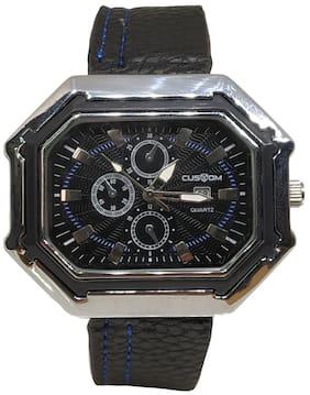 Branded Men Black Multifunction/ Analogue watch