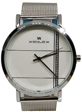 Branded Men Silver Analogue watch