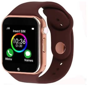 BTK Trade A1 Bluetooth Smart Watch with Camera and Sim Card Support and Fitness Band Feature Compitable with All Smart Phones (Brown)