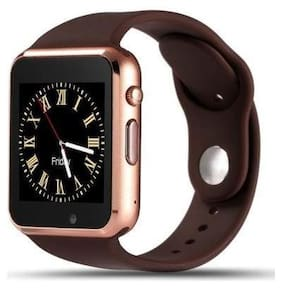 BTK Trade A1-SW Bluetooth Smart Watch with Camera and Sim Card Support and Fitness Band Feature Compitable with All Smart Phones (Brown)