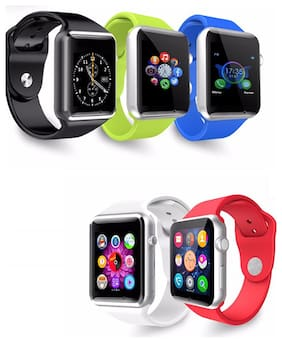 BTK Trade A1 Bluetooth Smart Watch with Camera and Sim Card Support and Fitness Band Feature Compitable with All Smart Phones (Assorted)