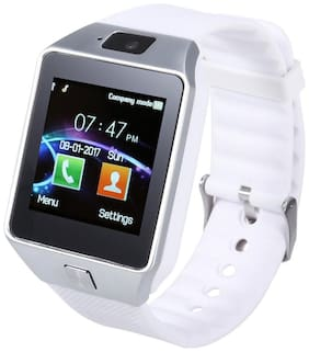 BTK Trade DZ09-SW Smart Watch  with Camera Touch Screen Sim Card & SD Card Support for Smartphones (White)