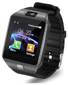 BTK Trade DZ09-SW Smart Watch  with Camera Touch Screen Sim Card & SD Card Support for Smartphones (Black)