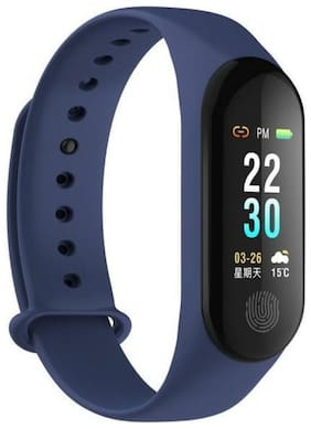 BTK Trade M3 Men/Women Fitness Smart Watch/Band (Blue)