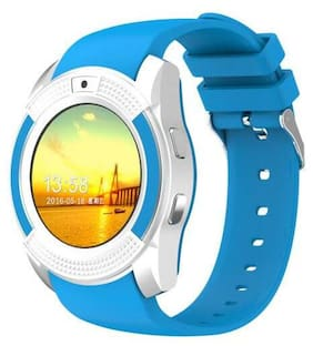 BTK Trade V8-SW Smart Watch  with Camera Touch Screen Sim Card & SD Card Support for Smartphones (Blue)