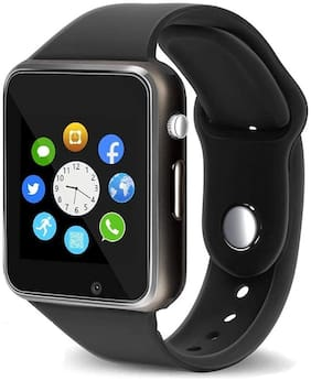 Capnicks A1 Bluetooth Smartwatch with Camera and SIM Card Support Apps Pedometer Sedentary Remind and Sleep Monitoring for All Smartphones
