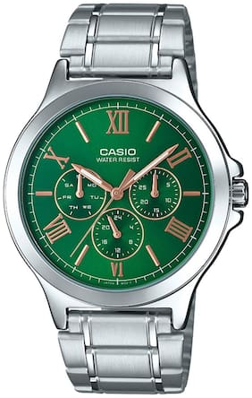 Casio Enticer Men's Green Dial Watch MTP-V300D-3AUDF - A1685