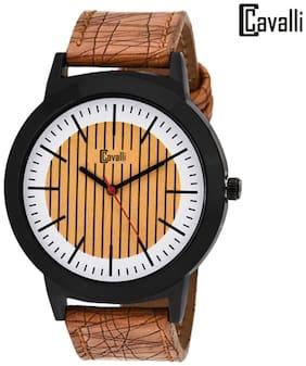 Cavalli Analogue Brown Tan Trendy Dial Men's Watch-cw331