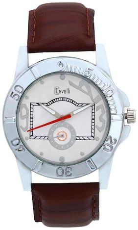 Cavalli Brown Leather Analog Men's Watch