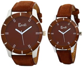 Cavalli Brown Analog Couple Watch