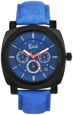 Cavalli Fosillo Analogue Blue Dial Mens And Boys Watch-CW347
