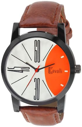 Cavalli  SLIM SERIES CW470 Black Designer Case Silver Orange Dial Men's Watch