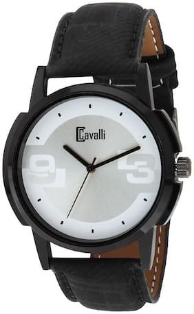 Cavalli  SLIM SERIES CW430 Black Designer Case Silver White Dial Men's Watch