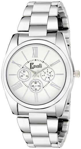 Cavalli  Analogue White Dial Stainless Steel Case Womens And Girls Watch- CW438