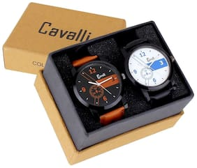 Cavalli  Analogue Trendy Mens Combo of Tan White Watch CAV416