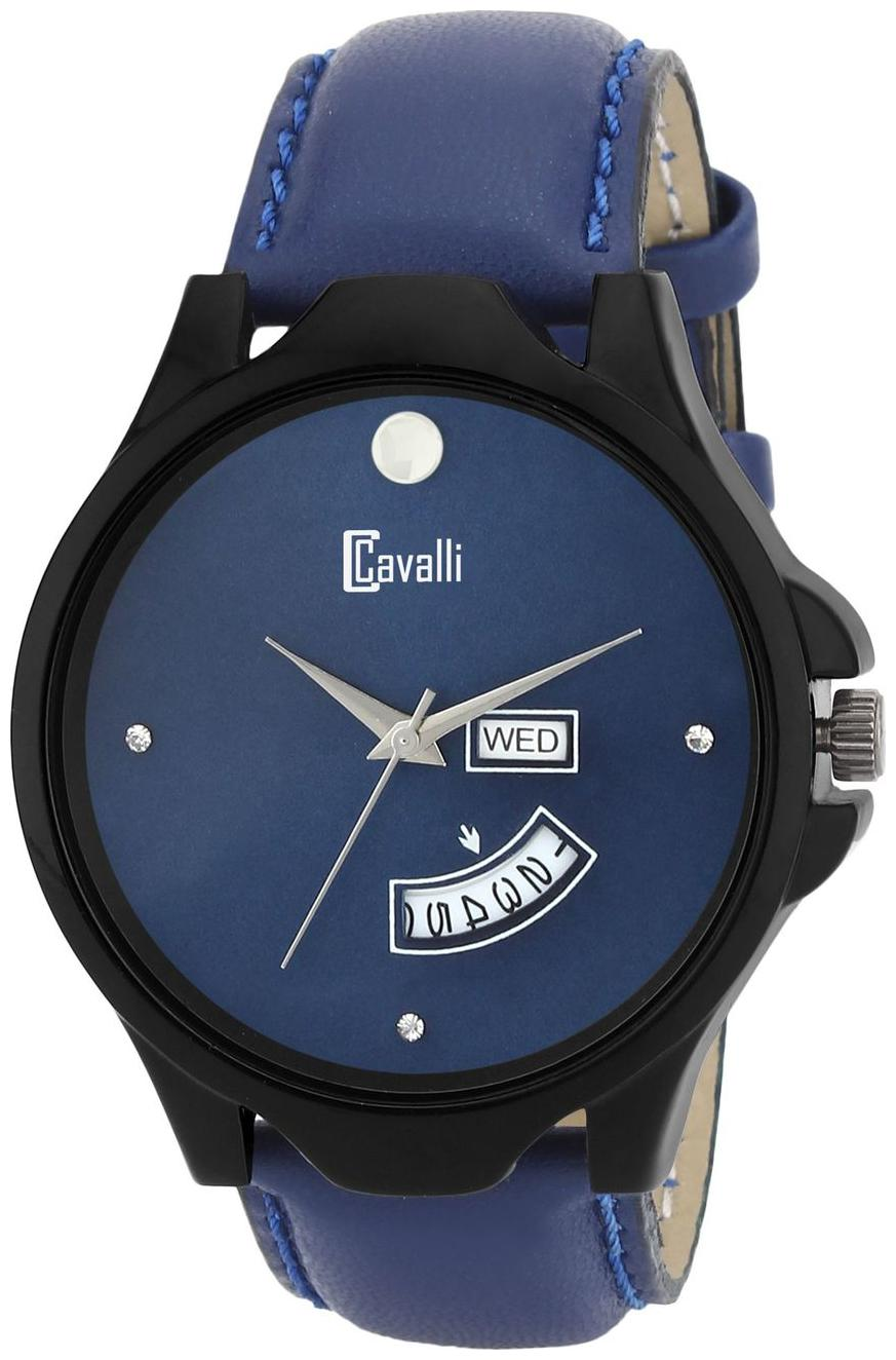 Cavalli Exclusive Series Blue Dial Day   Date Analog Boys And Mens Watch  CW534 by Watch Material Corporation