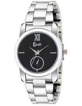 Cavalli India Analogue Black Dial Stainless Steel Case Womens And Girls Watch- CW437