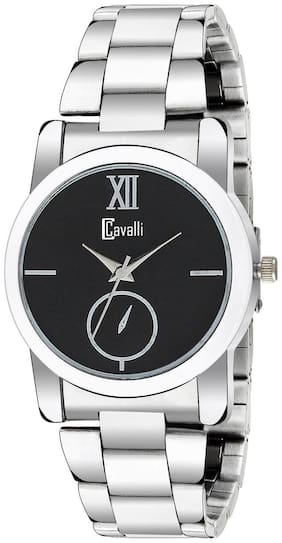 Cavalli  Analogue Black Dial Stainless Steel Case Womens And Girls Watch- CW437