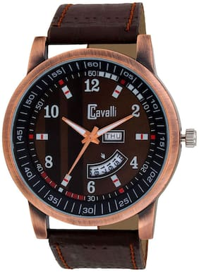 Cavalli  Exclusive Series Brown Designer Dial Day & Date Analogue Boys And Mens Watch-CW491