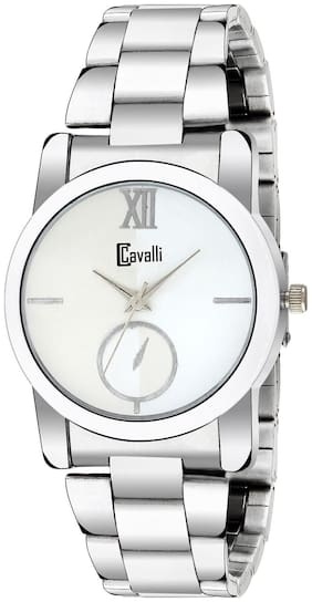 Cavalli  Analogue White Dial Stainless Steel Case Womens And Girls Watch- CW436