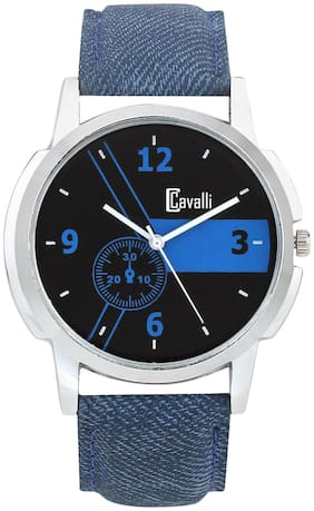 Cavalli  CW411 Exclusive Black Dial Chrome Case Watch - For Men